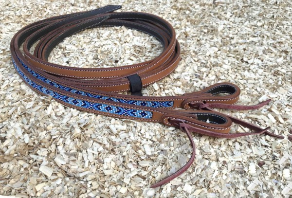 GVR USA Technics Reins Navy Blue Beads