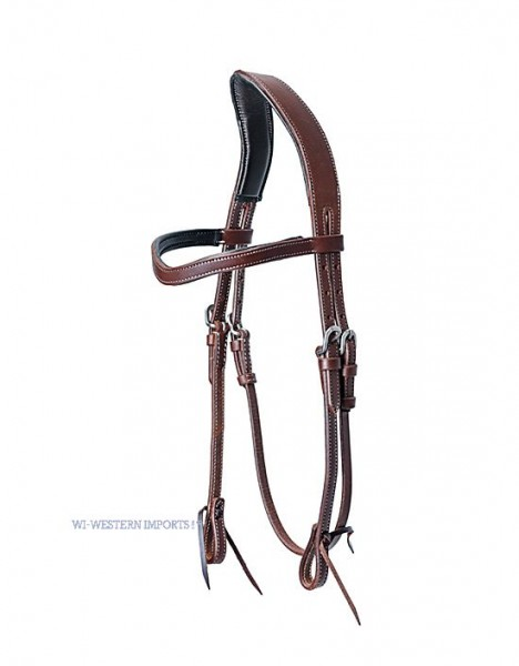 Schutz Brothers ANATOMICALLY SHAPED HEADSTALL, DARK OILED