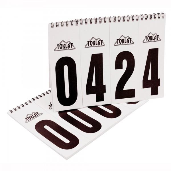 TOKLAT Startnummern-Set für Hunter-Pads