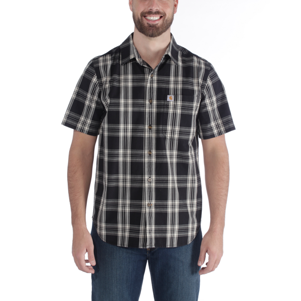 Carhartt S/S ESSENTIAL OPEN COLLAR SHIRT PLAID