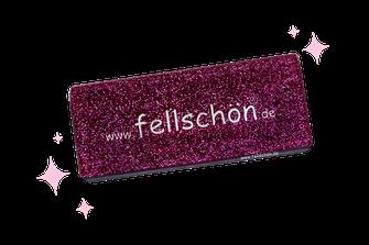 fellschön exclusiv glitzer-pink Bürste
