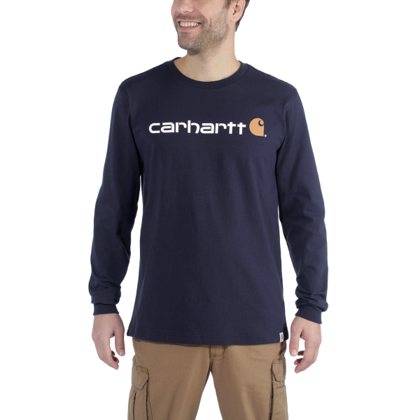 Carhartt LONG SLEEVE WORKWEAR SIGNATURE GRAPHIC T-SHIRT - CORE LOGO