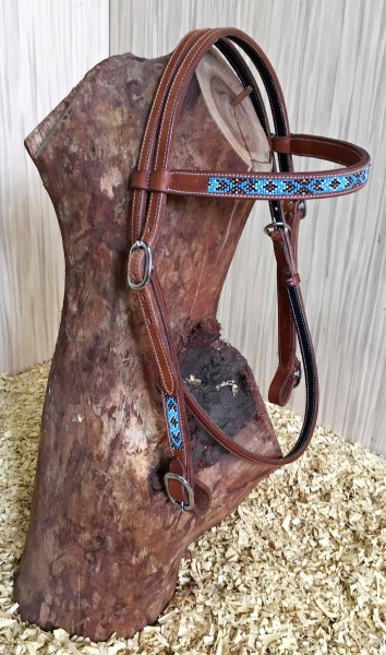 GVR USA Technics Quick-Change Headstall TURQUOISE Beads