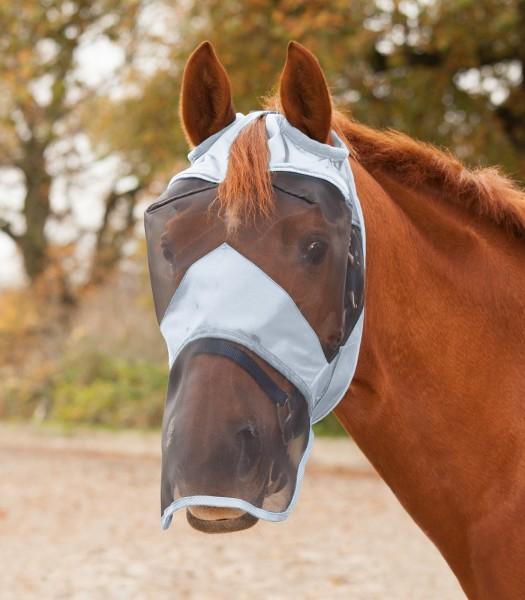 Premium Fliegenmaske ohne Ohren - mit Nasenschutz