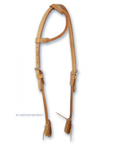 Western Imports Headstall OneEar Round - Natur