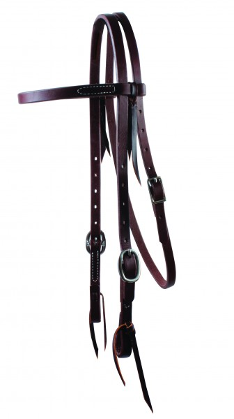 Schutz Brothers Ranchhand Browband Headstall Double Buckle