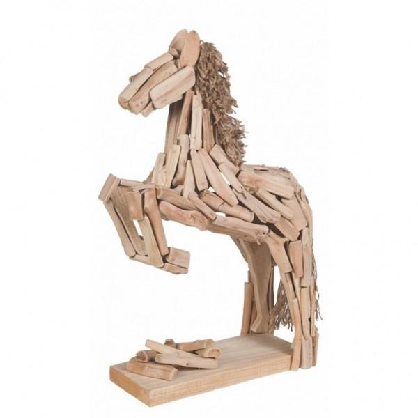 HKM Statue Pferd im Sprung 72 x 70 x 17 cm