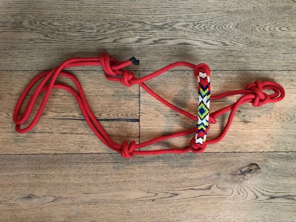 "WP Knotenhalfter ""Beads"" mit Strick"