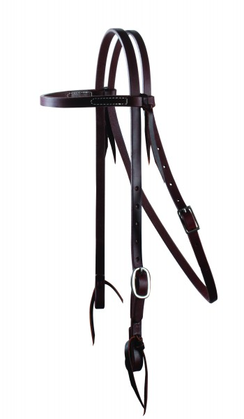 Schutz Brothers Ranchhand Browband Headstall Single Buckle